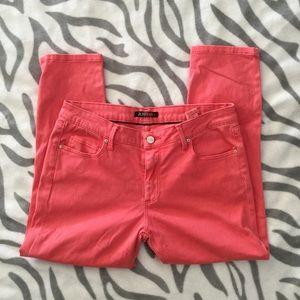 Just Fab Orange Capri Jeans Size 30